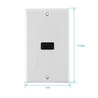 1 Port Gold Plated HDMI with Ethernet Wall Plate Face Cover forHome Theater DVD(White) - intl - 4