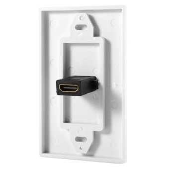1 Port Gold Plated HDMI with Ethernet Wall Plate Face Cover forHome Theater DVD(White) - intl - 3