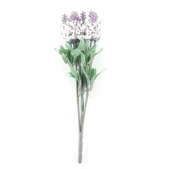 10 Heads Artificial Lavender Bouquet Fake Flower Plant (White)