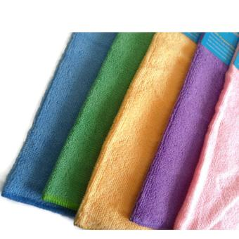 10 Pcs. Assorted Color Multi-Purpose Micro Fiber Cleaning TowelWashing Cloth For Car Cleaning Household 29 x 31 cm - 5