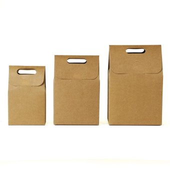 10 Pcs Kraft Paper Foldable Snacks Bags Candy Box Wedding GiftsPackage size:S - intl - 3