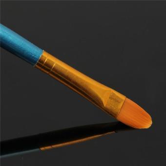 10 Pcs Nylon Wooden Handle Paint Brush Set For Painting Art Supplies - intl - 5