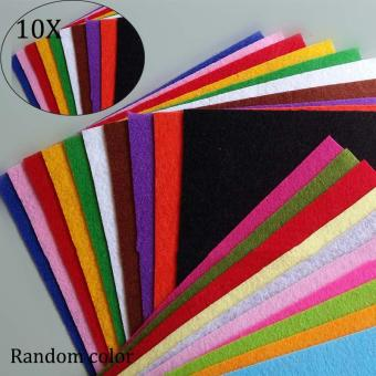 10 Pcs Thickness 1mm Polyester Felt Fabric Patchwork Cloth - intl
