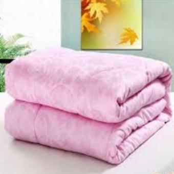 100% Handmade Natural Pure Long Mulberry Silk Quilt Silk FilledDuvet, Full Size (pink)