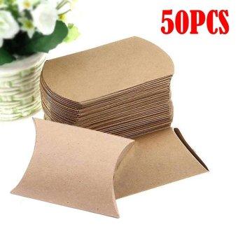 where to buy 100 pcs kraft paper pillow favor box wedding