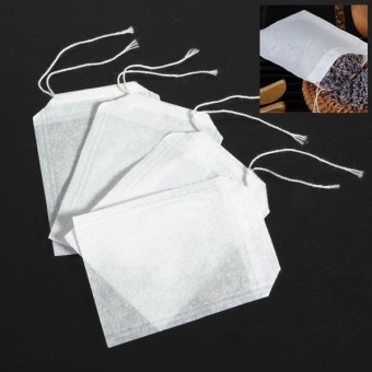 100 pcs Empty Teabags String Heat Seal Filter Paper Herb Loose Tea Bags