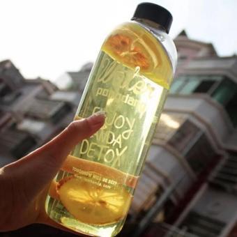 1000ML Water Pongdang Bottle Sport Fruit Juice Water Cup PortableTravel Bottle Bag White - 3
