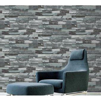 10*0.53m Wallpaper 3D PVC Brick Pattern Wall Art Home Decor TV WallEco-friendly Wall Paper Mural for Cafe Restaurant Living Room -intl - 5
