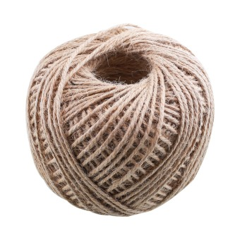 100M Jute Twine String Rope Floral Craft Wedding Gift Tags Wrap Decor Ornament