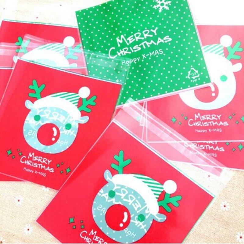 ... 100pcs 10*11+3cm Bake Cookies Biscuit Candy Elk Valve bag Glue bagPlastic Packaging ...