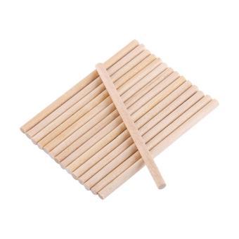 100pcs 80mm Wooden Sticks For DIY Wood Crafts Home Decoration -intl - 2