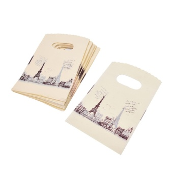100pcs Carry Out Retail Supermarket Grocery Plastic Shopping Bag - intl