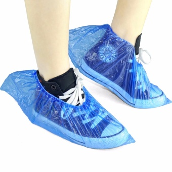 100PCS Medical Waterproof Boot Covers Plastic Disposable ShoeCovers Overshoes - intl - 3