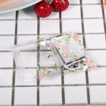 100Pcs Plastic Cookie Biscuit Candy Packing Bag (Rose 7 x 7cm) - intl - 3