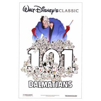 101 Dalmatians Version A Movie Poster 14x20 inches
