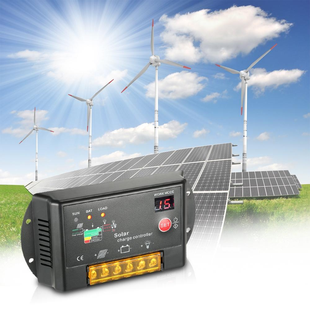 Philippines 10a 12v 24v Pwm Solar Charge Controller With Led Display Autoregulator For Panel Battery