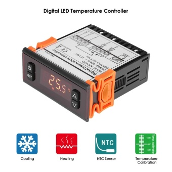 10A 90-250V Digital Temperature Controller Thermostat Regulator Thermocouple with Sensor Thermometer - intl
