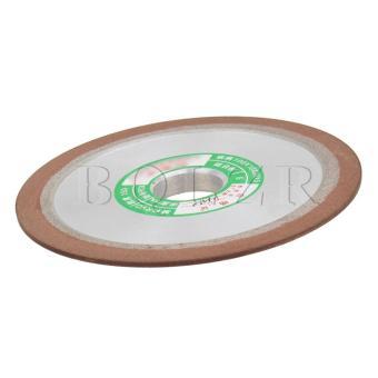 10CM Grit150 Plain Resin Diamond Grinding Wheel Silver - 2