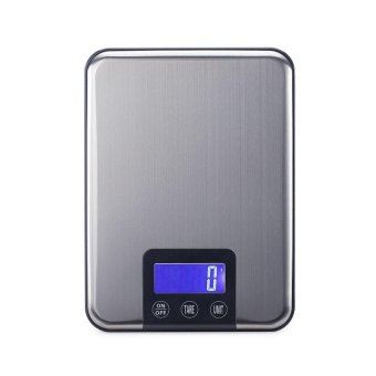 10KG LCD Electronic Kitchen Scales 10kg 1g Slim Stainless SteelDiet Food Digital Scale Touch Grams Weighing Balance Retail Box -intl