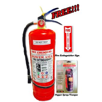 10lbs Abc Dry Chemical-Fire Extinguisher (Power Asia Brand)- Free Fire Extinguisher Sign and Teargas