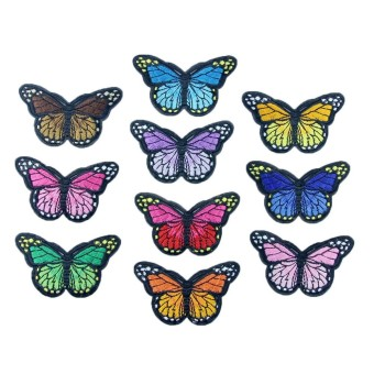 10PC New Color Butterfly Collar Sew Patch Applique Badge Embroidered - intl