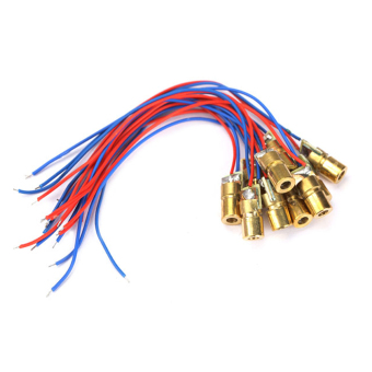 10pcs 650nm 6mm 3V 5mW Laser Dot Diode Module Head With Red DotCable - intl