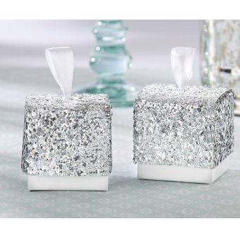 10pcs Glitter Silver Paper Candy Favor (Intl) - picture 2