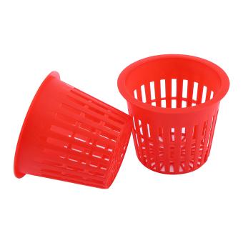 10pcs Heavy Duty Mesh Pot Net Cup Basket Hydroponic Aeroponic Plant Clone Kit Red - intl - 2