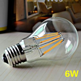 10Pcs PackE27 6W A60 Edison Retro Filament COB LED 3000K Lamp WarmWhite Vintage Light Bulb Warm White