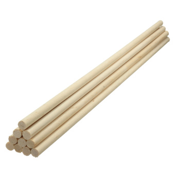 10pcs Round Wooden Lollipop Lolly Sticks Cake Dowels DIY Food Hand Crafts Tool 6mm - Intl