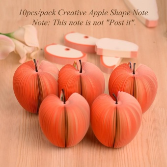 10pcs/pack Cute Notes Creative DIY Apple Fruit Memo Pads ScratchPaper School Office Supplies Stationery Children Gift - intl - 3