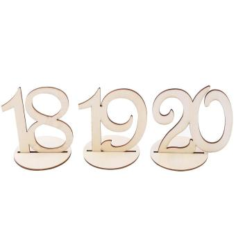 10pcs/Set Wooden Table Numbers Sign Stand Holder for Wedding Party Decor - intl - 4