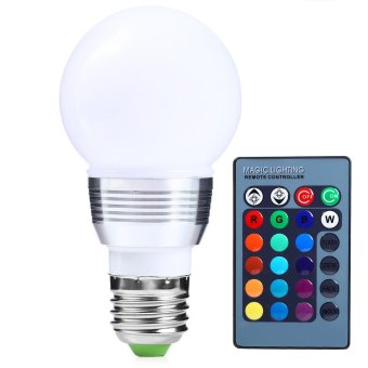 10W 85-265V E27 LED Bulb 6 Colors Changing Dimmable RGB Light with Remote - Intl