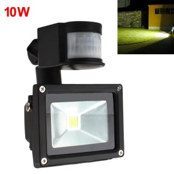 10W AC 85-265V PIR Infrared Body Motion Sensor LED Flood LightWaterproof Outdoor Landscape Lamp - intl