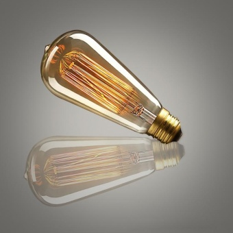 10W E27 220-240V Edison Light Bulb, Retro Yellow Light W-filament Bulb Coffee House Decor Industrial Style Lamp Power:10W - intl - 2
