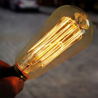 10W E27 220-240V Edison Light Bulb, Retro Yellow Light W-filament Bulb Coffee House Decor Industrial Style Lamp Power:10W - intl - 5