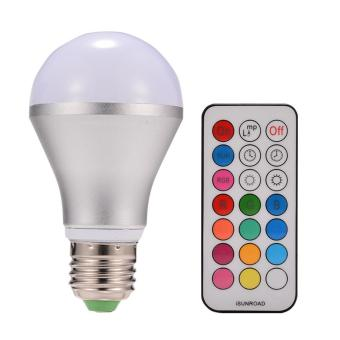 10W E27 Dimmable RGBW LED Light Bulb Colors Changing with Remote Control - intl