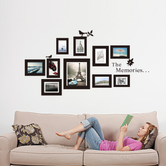 10x Picture Photo Frame Wall Mural Wedding Frames Sticker Vinyl Decal DIY