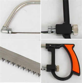 11 In 1 Magic Bow Saw Hand Home Tools Kit Steel Glass Wood Working Cutting with Box Orange - intl - 5