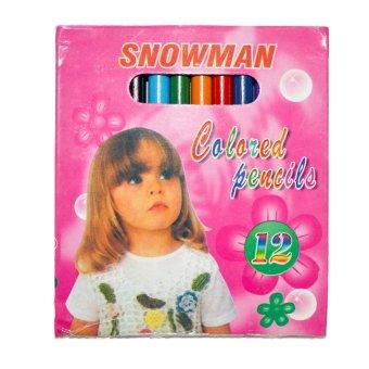 12 Boxes Snowman Colored Pencil (12 Assorted Colors per 1 Box) - picture 2
