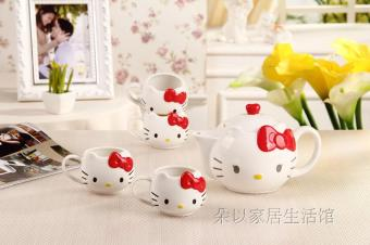 12 double headed bone china tea cup teapot