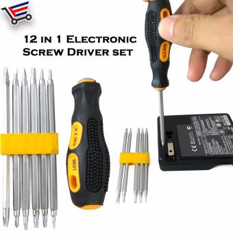 12 in 1 Electronic Detachable Screw Driver Set