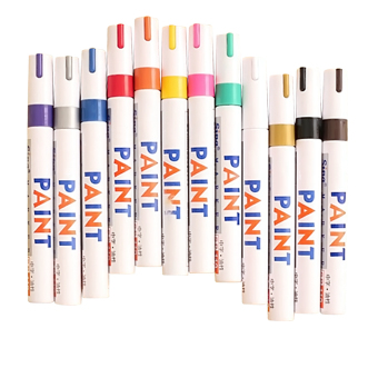 12 Pcs Color Waterproof Permanent Oil Based Art Draw Paint Marker Pen Signature Pen Set