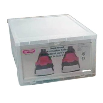 12 pcs Combo Hitop Drop Front Plastic Shoe Boxesstockable/Multi-purpose storage box (Clear) - 3