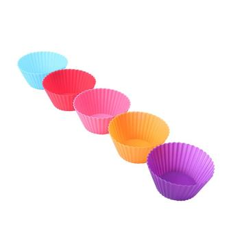 12 pcs Silicone Cake Cupcake Liner Baking Cup Mold