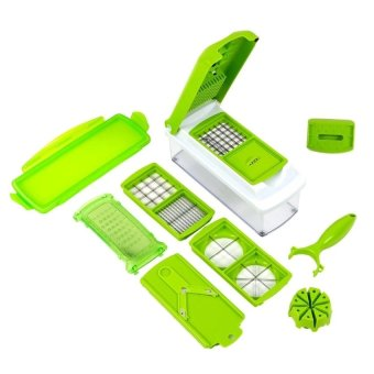 12-Piece Multiple Purpose Nicer Dicer Chopper Stainless Steel BladeVegetable Cutting Dicing Slicing All-in-one Kitchen Tool KitchenGadget Peeler Slicer
