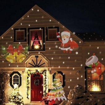12 Types Christmas Laser Snowflake Projector Outdoor LED Lamp Waterproof Disco Lights Home Garden Star Light Indoor Decoration - intl
