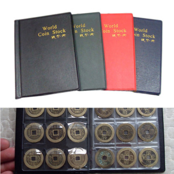 120 Coin Cases Holder Collection Penny Album Book Pockets StorageFashion (Intl) - 4
