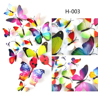 12PCS 3D PVC Magnet Butterflies DIY Wall Sticker Home Decor - picture 2
