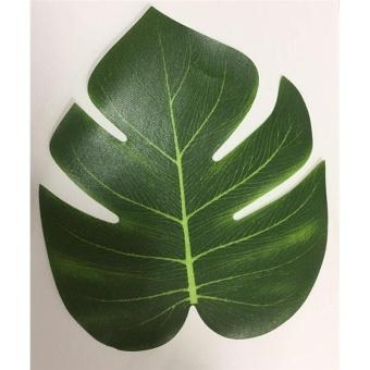 12Pcs 8'' Imitation Plant Leaves Hawaiian Luau Party Jungle BeachTheme Decorations for Birthdays Prom Events (green) - intl - 4